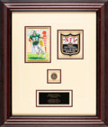 Football Collectibles:Others, 2006 Reggie White Hall of Fame Induction Award - Photomatched....