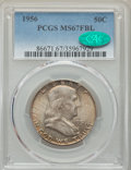 Franklin Half Dollars, 1956 50C MS67 Full Bell Lines PCGS. CAC....