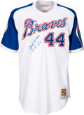 "Baseball Collectibles:Uniforms, 2000's Hank Aaron ""3,771 Hits"" Inscribed & Signed Jersey,..."