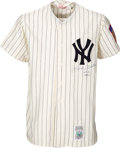 Baseball Collectibles:Uniforms, Circa 1990 Mickey Mantle Signed New York Yankees No. 6 Jersey. ...