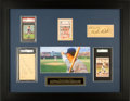 "Autographs:Others, 1930's-40's Babe Ruth & Charlie Root Signed Cut Signature ""Called Shot"" Display...."