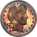 Proof Barber Half Dollars, 1905 50C PR67 PCGS. CAC....