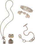 Luxury Accessories:Accessories, Set of 6: Silver Hermès, Gucci, and Tiffany & Co. Jewelry. Condition: 3. See Extended Condition Report for Sizes...... (Total: 6 Items)
