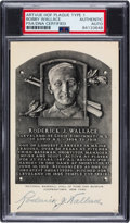 "Baseball Collectibles:Others, 1953-60 Roderick ""Bobby"" Wallace Signed Artvue Hall of Fame Plaque Postcard, PSA/DNA Authentic...."
