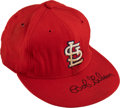Baseball Collectibles:Uniforms, Late 1960's Bob Gibson Game Worn & Signed St. Louis CardinalsCap....