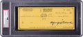 Autographs:Checks, 1975 Alfred Hitchcock Signed Personal Check, PSA/DNA Gem Mint 10....