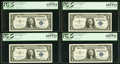 Error Notes:Mismatched Serial Numbers, Fr. 1619 $1 1957 Silver Certificates. Twenty Consecutive E...