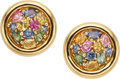 Estate Jewelry:Earrings, Multi-Color Sapphire, Gold Earrings, Chaumet, French. ...