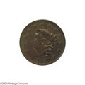 Large Cents: , 1817 1C 13 Stars MS62 Brown NGC. AU55 EAC....