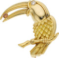 Estate Jewelry:Brooches - Pins, Colored Diamond, Diamond, Gold Brooch, Henry Dunay. ...