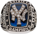 Baseball Collectibles:Others, 2004 Tampa Yankees Florida State League Championship Ring....