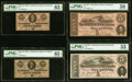 Confederate Notes:1862 Issues, T53 $5 1862 PF-13 Cr. 388 PMG Choice About Unc 58;. T63 50¢ 1863 PF-7 Cr. UNL PMG Choice Uncirculated 63 EPQ;. T69 $5 ... (Total: 4 notes)