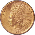 Indian Eagles, 1915-S $10 MS63 PCGS....
