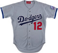 Baseball Collectibles:Uniforms, 1987 Bill Madlock Game Worn Los Angeles Dodgers Jersey....