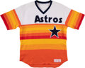 Baseball Collectibles:Uniforms, 1984-85 Mike Scott Game Worn Houston Astros Jersey....