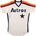 Baseball Collectibles:Uniforms, 1984-85 Joe Niekro Game Worn Houston Astros Jersey. ...