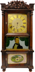 Political:3D & Other Display (pre-1896), Henry Clay: A Wonderful Large Mantel Clock with Reverse Glass Portrait....