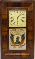 """Political:3D & Other Display (pre-1896), Zachary Taylor: """"Rough and Ready"""" Ogee Mantel Clock...."""