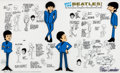 Animation Art:Seriograph, The Beatles Cartoon Model Sheet Limited Edition Sericel (DenniLu Co./Apple, 2007).... (Total: 2 Items)
