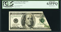Error Notes:Foldovers, Fr. 2175-F $100 1996 Federal Reserve Note. PCGS Choice New 63PPQ.....