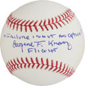 Explorers:Space Exploration, Gene Kranz Signed Baseball with Added Famous Apollo 13 Quote. ...