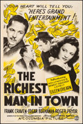 "Movie Posters:Comedy, The Richest Man in Town (Columbia, 1941). Fine/Very Fine on Linen. One Sheet (27.25"" X 41""). Comedy. From the Collection o..."