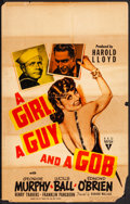 """Movie Posters:Comedy, A Girl, a Guy and a Gob (RKO, 1941). Fine. Window Card (14"""" X 22""""). Comedy. From the Collection of Frank Buxton, of which ..."""
