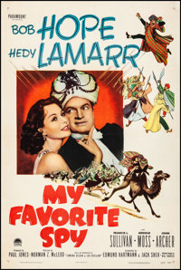 """My Favorite Spy (Paramount, 1951). Fine/Very Fine on Linen. One Sheet (27"""" X 41""""). Comedy. From the Collection..."""