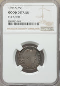 Barber Quarters, 1896-S 25C -- Cleaned -- NGC Details. Good. NGC Census: (133/221).PCGS Population: (277/654). CDN: $525 Whsle. Bid for pro...