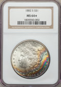 1882-S $1 MS64★ NGC. NGC Census: (32929/27938 and 296/405*). PCGS Population: (33845/25800 and 296/405*). MS64. Mintage...