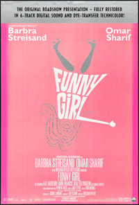 """Funny Girl (Columbia, R-1996). Rolled, Fine-. One Sheet (26.75"""" X 39.75"""") SS Restored Roadshow Style. Musical..."""