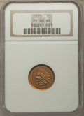 Proof Indian Cents: , 1870 1C PR64 Red and Brown NGC. NGC Census: (48/48). PCGS Population: (121/66). CDN: $550 Whsle. Bid for problem-free NGC/P...