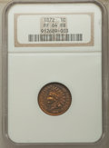 Proof Indian Cents: , 1872 1C PR64 Red and Brown NGC. NGC Census: (57/58). PCGS Population: (142/104). CDN: $725 Whsle. Bid for problem-free NGC/...
