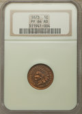 Proof Indian Cents, 1873 1C Closed 3 PR64 Red NGC. NGC Census: (10/8). PCGS Population: (44/44). CDN: $900 Whsle. Bid for problem-free NGC/PCGS...