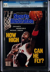 1989 Michael Jordan Sports Illustrated - CGC 9.2, Pop One with One Higher