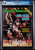 Basketball Collectibles:Publications, 1986 Michael Jordan Sports Illustrated - CGC 7.5, Pop Three with One Higher....