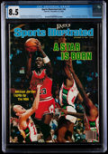 Basketball Collectibles:Publications, 1984 Michael Jordan First Professional Sports Illustrated - CGC 8.5, Pop One with Four Higher....