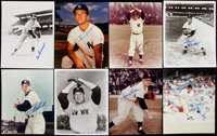 New York Yankees Great Signed Photograph Lot of 25