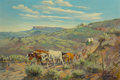 Fine Art - Painting, American, George Phippen (American, 1915-1966). Western Trek. Oil oncanvas. 24 x 36 inches (61.0 x 91.4 cm). Signed lower left: ...