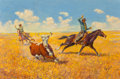 Fine Art - Painting, American, George Phippen (American, 1915-1966). Cowboys of Today. Oilon canvas. 24 x 36 inches (61.0 x 91.4 cm). Signed lower lef...