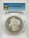 1890 $1 MS64 Deep Mirror Prooflike PCGS. PCGS Population: (103/11 and 10/0+). NGC Census: (37/1 and 0/1+). CDN: $1,400 W...