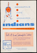 Baseball Collectibles:Programs, 1956 Indianapolis Indians Multi-Signed Program with Roger Maris (3Signatures)....