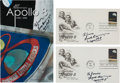 Explorers:Space Exploration, Frank Borman Group of Three Signed Apollo 8-Related Items. ...