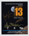 Explorers:Space Exploration, Apollo 13 45th Anniversary Reception and Dinner Program Signed by James Lovell, Fred Haise, and Gene Kranz. ...