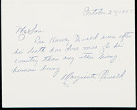 1965 Marguerite Oswald Signed Letter with Excellent Lee Harvey Oswald Content