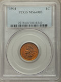 Indian Cents, 1904 1C MS64 Red and Brown PCGS. PCGS Population: (681/112). NGC Census: (360/145). MS64. Mintage 61,328,016. ...