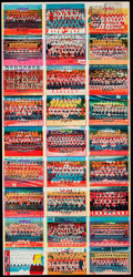Baseball Cards:Other, 1978 Topps Team Checklist Test Uncut Sheet Panel. ...