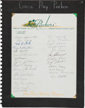 Football Collectibles:Others, 1943 Green Bay Packers Team Signed Letterhead....