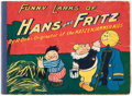 Platinum Age (1897-1937):Miscellaneous, The Funny Larks of Hans Und Fritz #202 (Saalfield Publishing Co.,1917) Condition: Apparent VG....