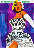 """Movie Posters:Comedy, The Seven Year Itch (Atlas, R-1966). Folded, Very Fine-. Full-Bleed German A1 (23.5"""" X 33""""). Comedy.. ..."""